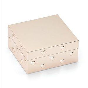 New in box kate spade Heart to Heart Keepsake Box